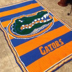 Gator Crochet Blanket Florida Gators Crochet Crochet