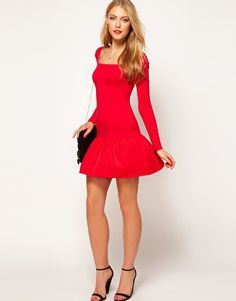 Enlarge ASOS Body-Conscious Dress With Dropped Waist
