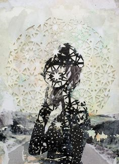 "Beautiful, romantic mixed-media work by collage artist and ""paper addict"" Elise Wehle. - http://www.elisewehle.com/"