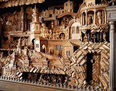Detail of wooden nativity scene in Třebechovice pod Orebem