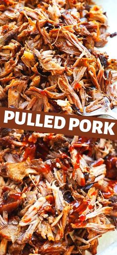 The best pulled pork recipe using oven and stovetop smoker. This pulled pork is fall-off-the-bone tender, smoky, with homemade dry rub seasonings. So easy and delicious! Best Pulled Pork Recipe, Slow Cooked Pulled Pork, Pork Recipes, Cooking Recipes, Stovetop Smoker, Recipe Using, Pork Dishes, Pasta Dishes, The Best