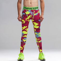 New Fashion Camouflage Men Compression Spring Autumn Tights Print Pants Bodybuilding Casual Trousers Skinny Leggings Y500