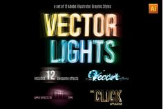 Vector Light Effect Graphic Styles by Transfuchsian on Creative Market