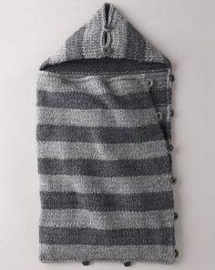 piccolo sacco di lana a righe