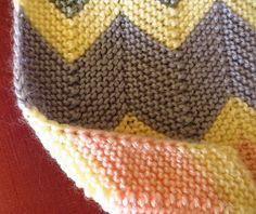 Ravelry: Garter Chevron Blanket pattern by Catherine Anderson Dishcloth Knitting Patterns, Knitting Stiches, Crotchet Patterns, Knitting Yarn, Blanket Patterns, Chevron Afghan, Chevron Crochet, Chevron Rugs, Ravelry