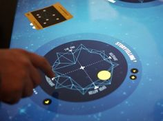 Constellation | Featured Work | Second Story mixing en-active with iconic.  A gui interface with physical cards.