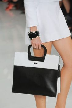 Ralph Lauren Spring 2014( this #purse would go good with that black and white fierce dress)☺ leather handbags and #purses