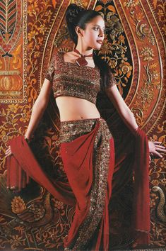 sari -  the rich jewel tone colors and the artful merging of ancient and modern- INDIA