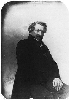 Louis Daguerre. Phot. Nadar: Gaspard-Félix Tournachon (1 April 1820, Paris – 23 March 1910)