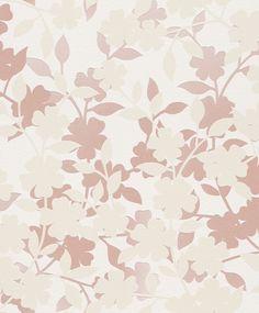 Papel de Parede (floral - rosa e areia - fundo alto relevo - 451016)…