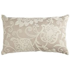Damask Chenille Oblong Pillow (Have 2 of these to layer on bed)