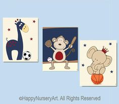 Items similar to Baby nursery safari animals sports wall art set,Boys nursery wall art set of 3 posters,Baby nursery basketball soccer football art prints on Etsy Baby Boy Nursery Themes, Baby Boy Room Decor, Baby Boy Rooms, Baby Boy Nurseries, Nursery Art, Nursery Ideas, Room Ideas, Baby Boys, Soccer Baby