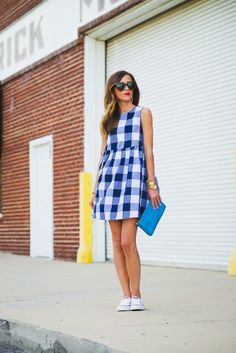 Sequins & Things | Blue Gingham