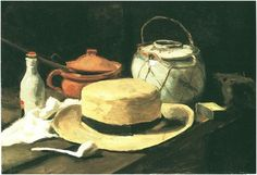 Vincent van Gogh Still Life with Yellow Straw Hat Painting