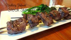 Blackberry Zinfandel Steak Skewers - Colleen's Kitchen