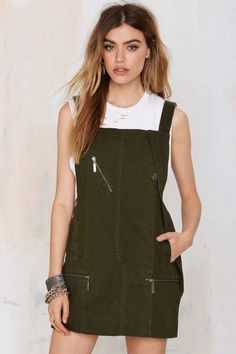 Nasty Gal Army of One Overall Dress