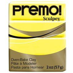 Premo! Sculpey Oven-Bake Clay in Sunshine
