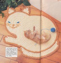 Items similar to Cat Rug Crochet Pattern on Etsy