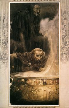 Alan Lee illustration from 'Branwen, Daughter of Llyr' from 'The Mabinogion'