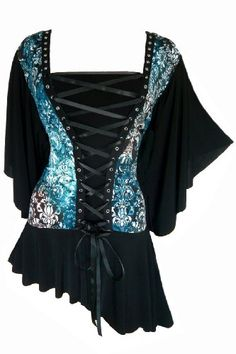 Lovely | Dare To Wear Victorian Gothic Women's Plus Size Alchemy Corset Top $64.99