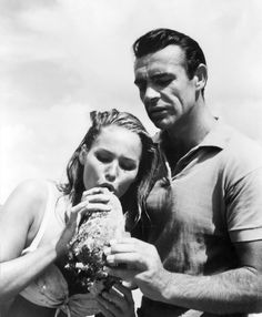 1962. Ursula Andress and Sean Connery.