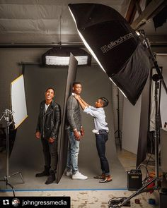 Behind the scenes by @johngressmedia :  #behindthescenes from my photoshoot for @pivotpointintl with @tristinxjohnson and @tynanleachman. Hair by @Anthonythebarber916. Styling by @Frenchvendette. Makeup by @See_amy. Art direction by @Mholmes710 @italoaussieboy and @Directedbydanya. #pivotpoint #beautyeducator #famousbtsmag #iso1200 #portrait #photoshoot #malemodel #makeportraits #portraitmood #johngressmedia #portraitphotography #setlife #headshot #portraits_ig #canonusa #pursuitofportraits…