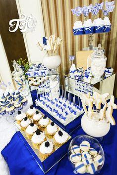 Сине-белый кенди-бар