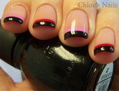 Chloe's Nails Valentines French