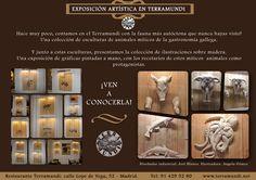 Ven a conocer nuestra exposición artística de esculturas e ilustraciones #gastro en #Terramundi