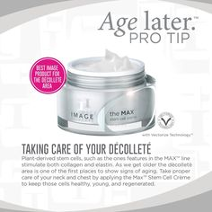 Taking care of your décolleté Image Skincare, Beauty Hacks, Beauty Tips, Stem Cells, Getting Old, Food Inspiration, Collagen, Makeup Tips, Estheticians
