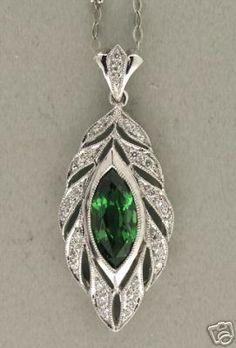 Very Vintage Garnet and Diamond Pendant!