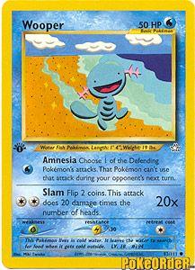 Pokemon Neo Genesis Card 82 - Wooper $0.49-$1.25