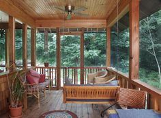 I dream of a fabulous screened in back porch with a fan and big comfy reading area.