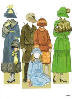 American Family Paper Dolls of 1900-1920 by Tom Tierney - Dover Publications, Inc.,1991: Plate 9 (of 16)