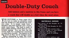 Click on Images to Enlarge Here you go... Your own Mid Century Daybed/ Couch. Just a mattress and some elbow grease and you could DIY a whol...