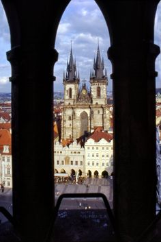 Tyn Cathedral in Old Town Square, Prague | Czech Republic (by...
