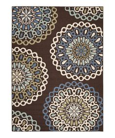 Another great find on #zulily! Chocolate & Blue Louisa Indoor/Outdoor Rug by Safavieh Rugs #zulilyfinds