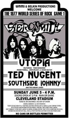 Aerosmith Live, Aerosmith Concert, Rock Posters, Band Posters, Music Posters, 70s Rock And Roll, Rock Games, Psychedelic Bands, Vintage Concert Posters