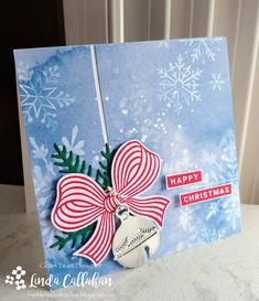 Stampin Up Christmas, Christmas Cards To Make, Christmas Bells, Christmas Photos, Christmas Greetings, Christmas Crafts, December, Bee Cards, Gift Bows