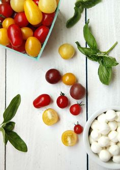 This classic is always a favorite. Tomato-Basil-Mozzarella-Salad by @savorysweetlife