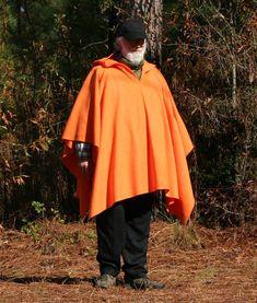 Brilliant Orange Hooded Fleece Poncho  Big & by DonnasDesignsSC, $80.00