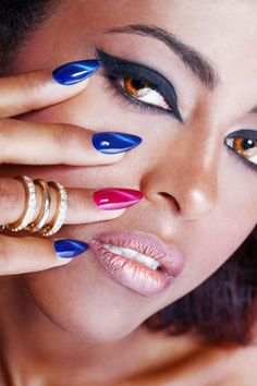 tiger eye crystal nails