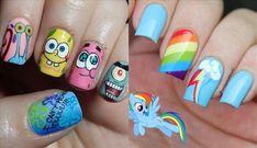 uñas para niñas +50 Diseños Y Como decorarlas Facil y Rapido