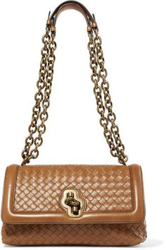 Bottega Veneta - Olimpia Knot Intrecciato Leather Shoulder Bag - Camel  Leather Shoulder Bag 748e6f71f7b07
