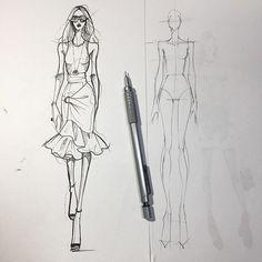 Source by cpistache design sketches Fashion Model Sketch, Fashion Design Sketchbook, Fashion Design Portfolio, Fashion Illustration Sketches, Fashion Design Drawings, Fashion Sketches, Dress Sketches, Design Illustrations, Fashion Figure Drawing