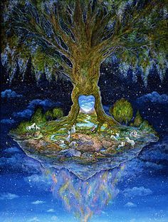 """Heart of the Tree 2"" par Josephine Wall #Majestic #Cosmic #puzzles"