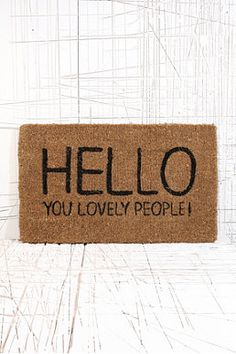 Lovely People Doormat - Urban Outfitters from Urban Outfitters. Shop more products from Urban Outfitters on Wanelo. Urban Outfitters, My Home Design, House Design, Decorative Accessories, Home Accessories, D House, Cozy House, Home And Deco, My New Room
