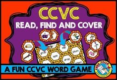 #WORD #WORK: READ, FIND AND COVER - #CCVC WORDS: #READ WORD AND #MATCH IT WITH #PICTURE Do you want to motivate students to read ccvc words and find the corresponding pictures? This resource is just for you and will surely engage students! Children select a word from the mat, read it and find the corresponding picture card. They then place the latter on top of the word to cover it. The game ends when all the words are covered with a picture. #literacy #center #phonics #game #fun