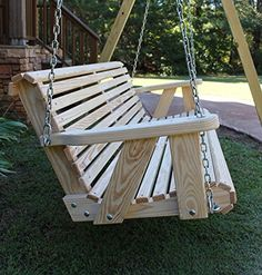 ROLL BACK Amish Heavy Duty 800 Lb 5ft. Porch Swing- Made in USA. Ben needs to make us one of these!