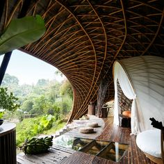 This May Be the World's Most Exotic Hotel Constructed almost entirely of bamboo, the property's guest pavilions—deep in the jungle of Bali—raise the bar for eco-chic